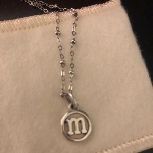 James Avery beaded chain and M pendant